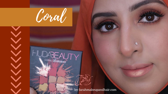 Huda Beauty Coral Palette Farah Makeup and Hair Dubai Makeup Artist