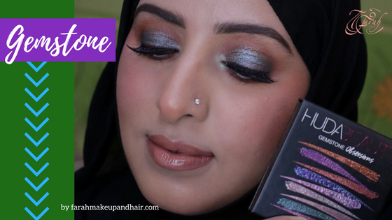 Huda Beauty Gemstone Coral Palette Farah Makeup and Hair Dubai Makeup Artist