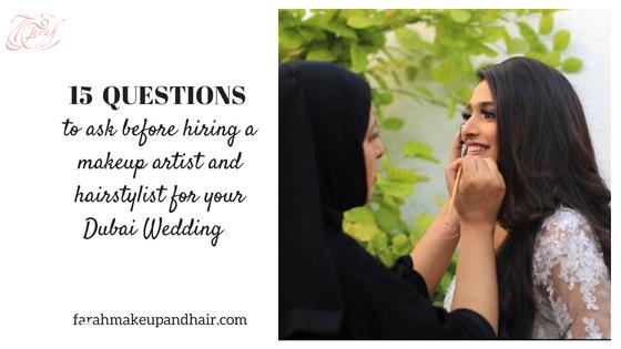 Dubai Wedding makeup Artist and hair stylist