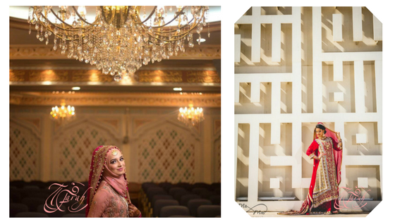 My beautiful clients Nidi and Nidha in their Masjid wedding looks.