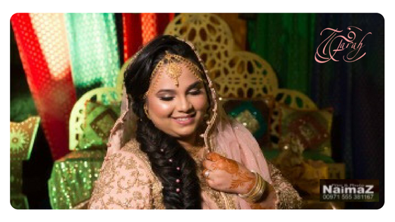 My beautiful client Khadeeja in her Mehendi event at a charming private villa.