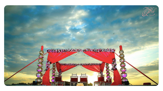 My client Aanchal had a stunning wedding event at the beach at Rixos the Palm.
