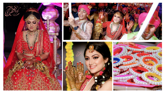 Aanchal had gorgeous makeup looks that matched her outfit and the different themes of the events.