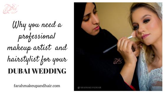 Farah Makeup and Hairstylist Dubai Wedding 1